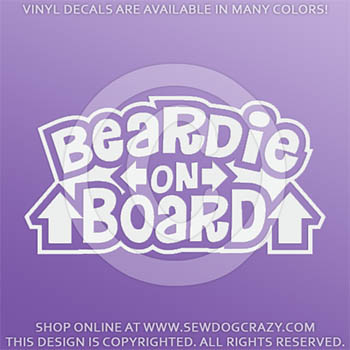 Bearded Collie On Board Vinyl Stickers