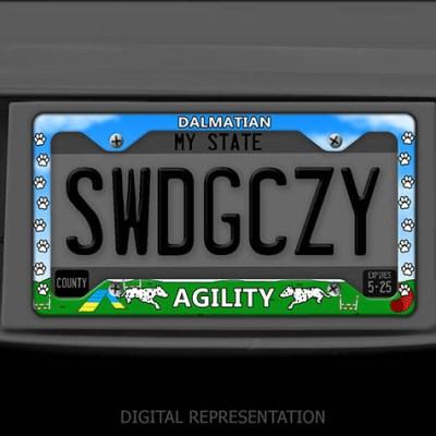 Dalmatian Agility License Plate Frames