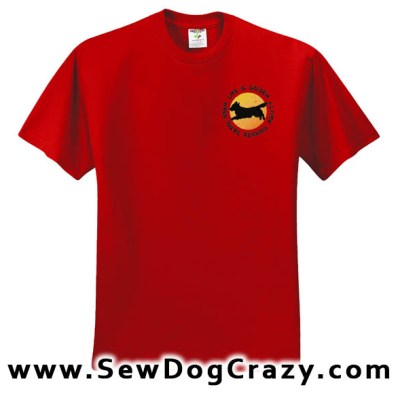 Embroidered Golden Retriever Agility TShirts