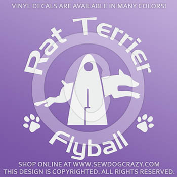 Rat Terrier Flyball Vinyl Stickers