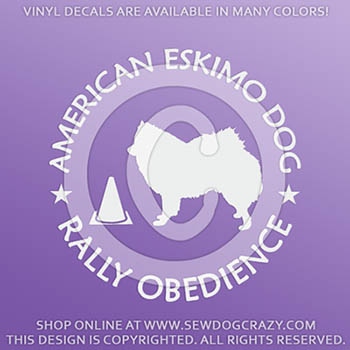 American Eskimo Dog Rally Obedience Decals