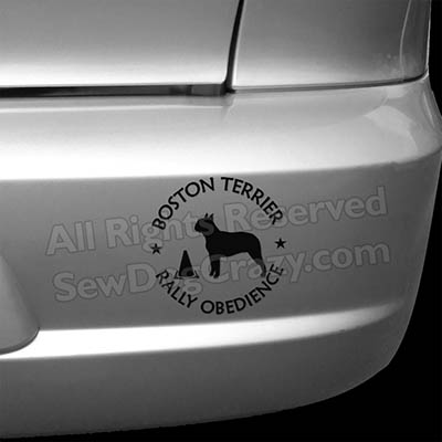Boston Terrier Rallyo Bumper Stickers