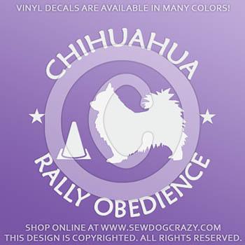 Chihuahua RallyO Vinyl Stickers