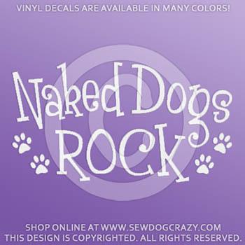 Naked Dogs Rock Vinyl Stickers