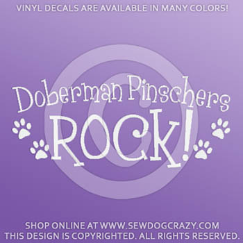 Doberman Pinschers Rock Decal
