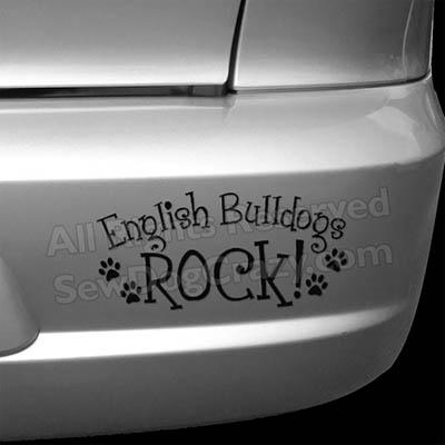 English Bulldogs Rock Bumper Sticker