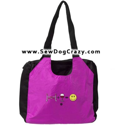 Agility Wine Embroidered Bag