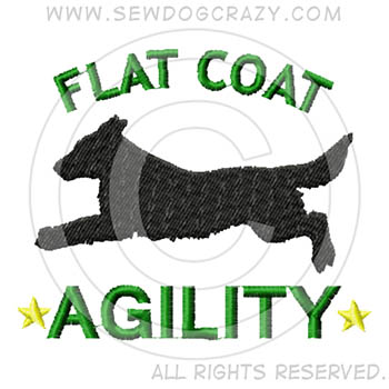Embroidered Flat Coated Retriever Agility Shirts