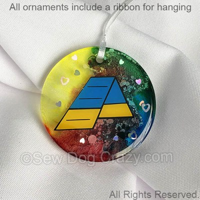 Rainbow Agility A-Frame Ornament