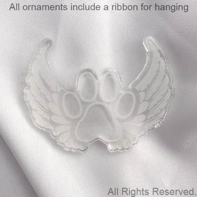 Paw Print Wings Ornament