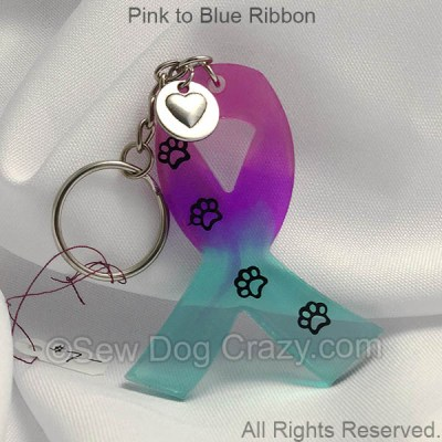 Pastel Dog Cancer Ribbon