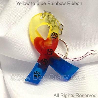 Rainbow Dog Cancer Ribbon