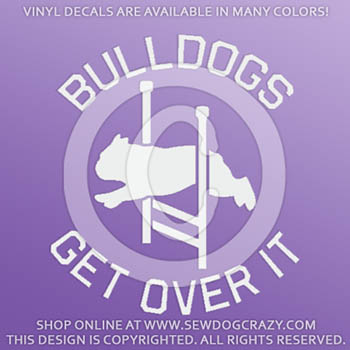 English Bulldog Agility Vinyl Decals