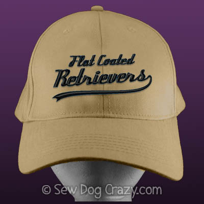 Embroidered Flat Coated Retriever Hat