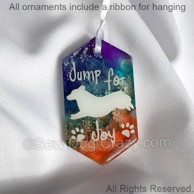 Corgi Jump For Joy Ornament