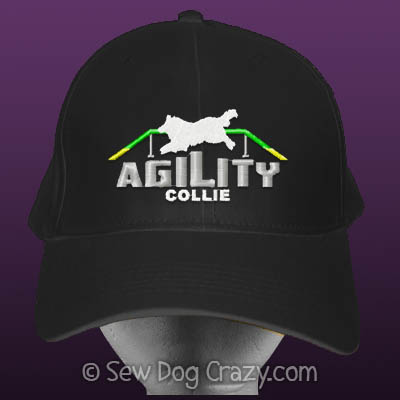 Embroidered Collie Agility Hat