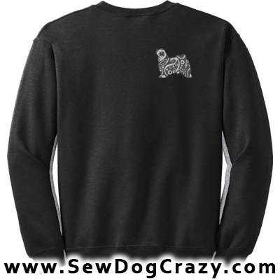 Embroidered Paisley Norwich Terrier Sweatshirt