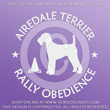 Airedale Terrier Rally Stickers