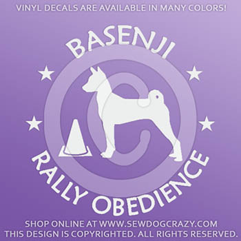 Basenji Rally Obedience Stickers