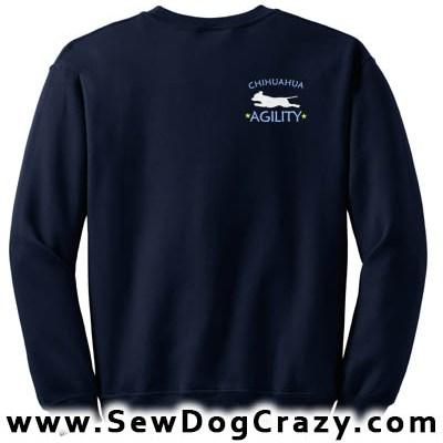 Embroidered Chihuahua Agility Sweatshirts