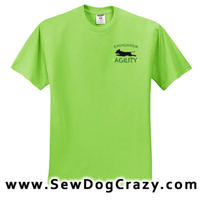 Embroidered Chihuahua Agility Tshirts