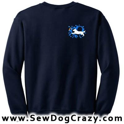 Flat Coated Retriever Dock Jumping Sweatshirts