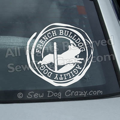 French Bulldog Agility Jump Window Decals