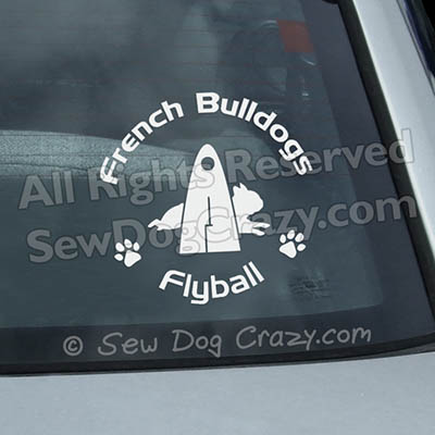 French Bulldog Flyball Window Stickers