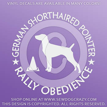 German Shorthaired Pointer Rally Obedience Decals