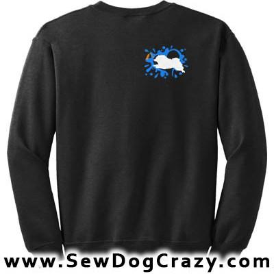 Embroidered Keeshond Dock Jumping Sweatshirt