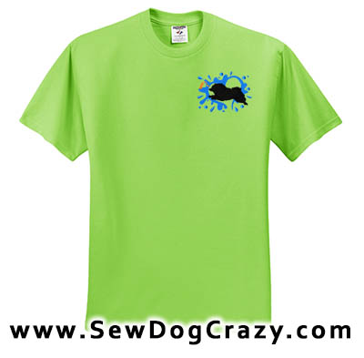 Embroidered Keeshond Dock Jumping Tees