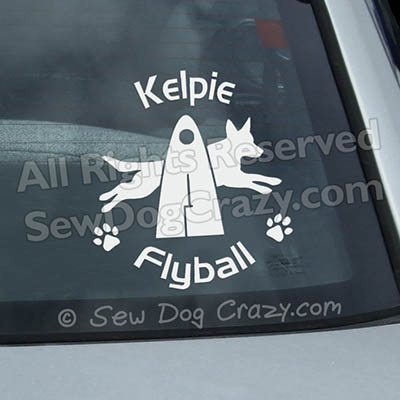 Kelpie Flyball Window Stickers