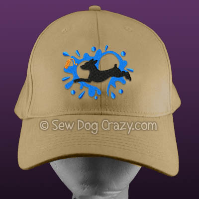 Embroidered Min Pin Dock Jumping Hat