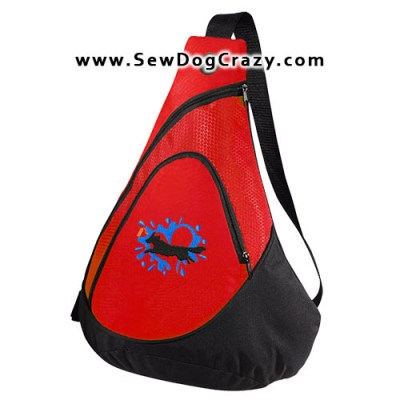 Embroidered Nova Scotia Duck Tolling Retriever Dock Jumping Bag