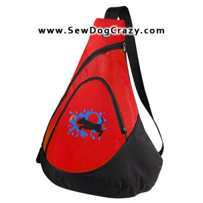 Embroidered Pit Bull Dock Jumping Bags