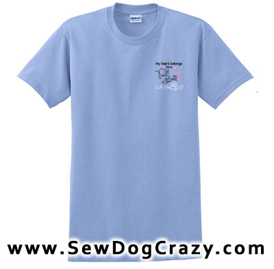Embroidered Love My Pit Bull Tees