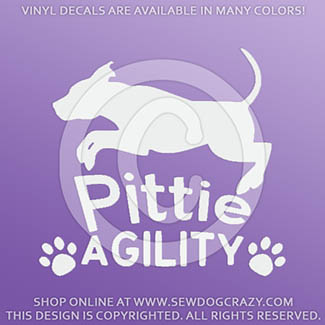 Agility Pit Bull Decals