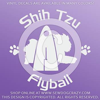 Shih Tzu Flyball Car Stickers