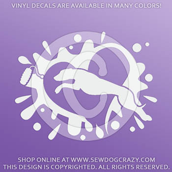 Whippet Dock Jumping Decals