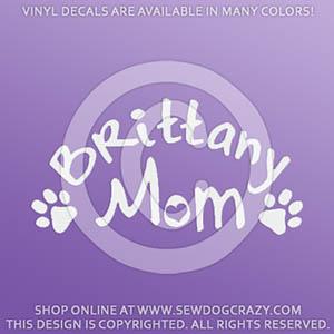 Brittany Dog Mom Decal