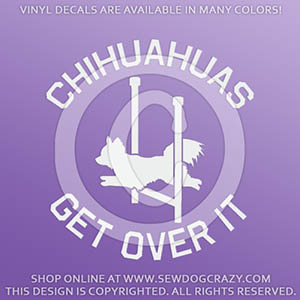 Funny Long Haired Chihuahua Agility Decal