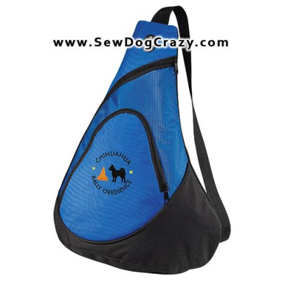Embroidered Chihuahua Rally Obedience Bags