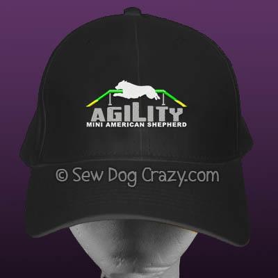 Mini American Shepherd Agility Hat