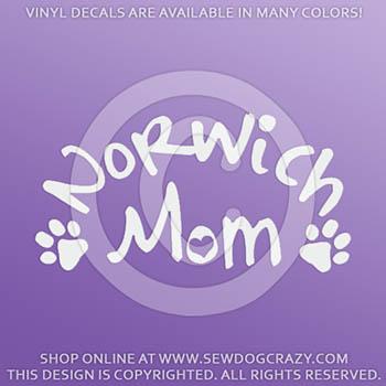 Norwich Terrier Mom Window Decals