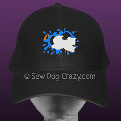 Embroidered Tibetan Terrier Dock Jumping Hat