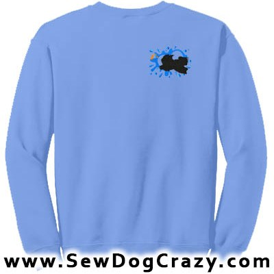Embroidered Tibetan Terrier Dock Jumping Sweatshirts