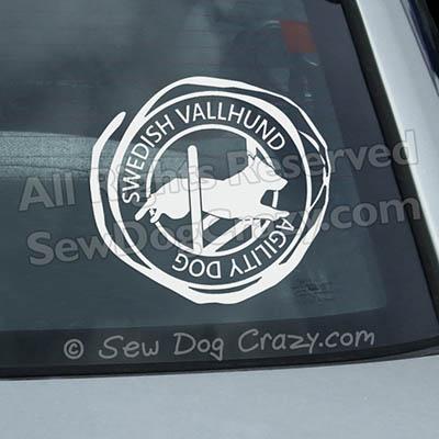 Vallhund Agility Car Window Stickers