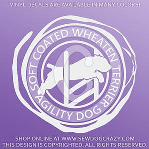Soft Coated Wheaten Terrier Agility Decals