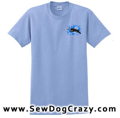 Soft Coated Wheaten Terrier Dock Jumping Tshirt