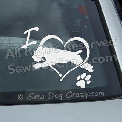 Love Wheaten Terrier Dog Sports Window Stickers